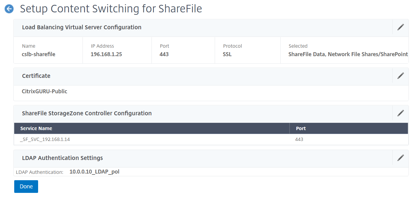 NetScaler for ShareFile - Configured
