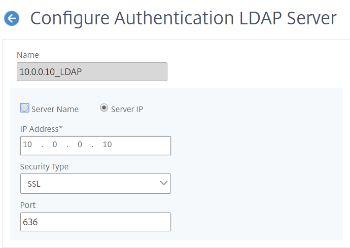 NetScaler for ShareFile - Configure LDAP
