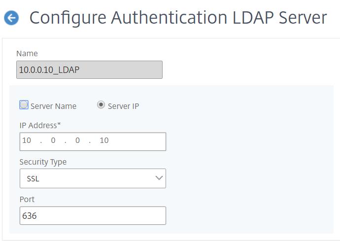 NetScaler for ShareFile - Configure LDAP