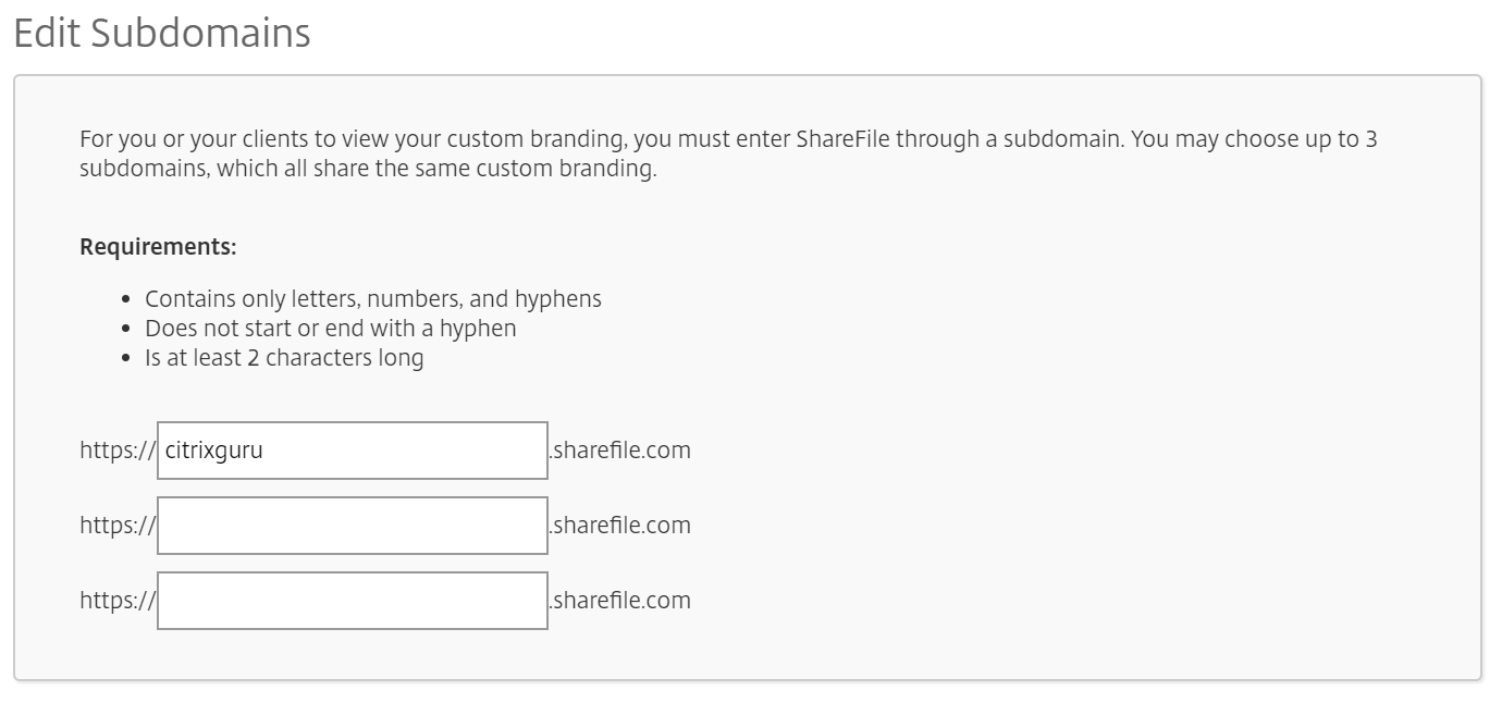 ShareFile - Branding configuration 2