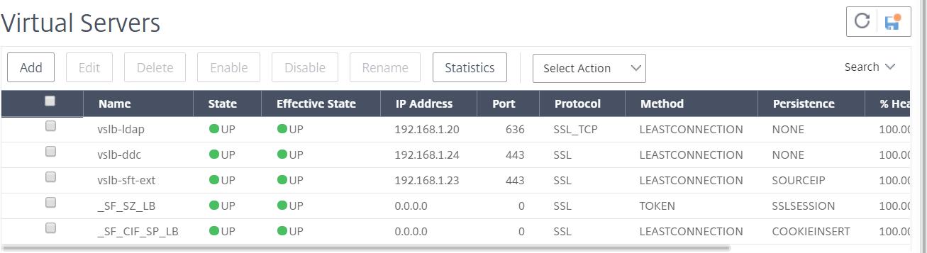 NetScaler for ShareFile - Virtual Servers configuration