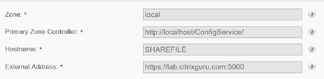 Citrix ShareFile StorageZones Controller - Configure a new Zone