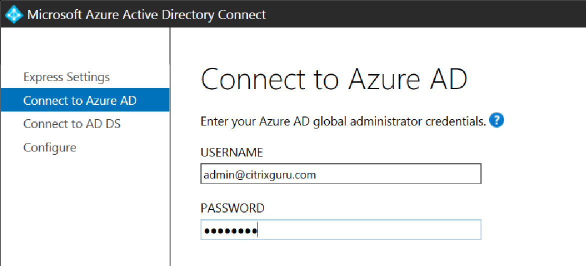 Azure AD - Credentials
