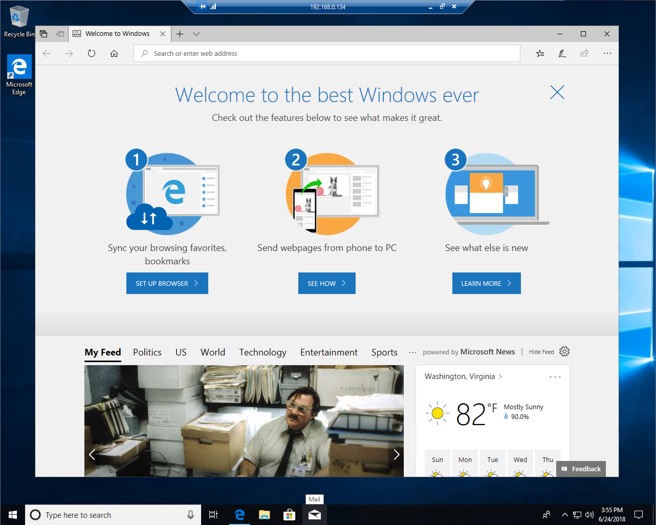 Microsoft Azure - Windows 10 VM