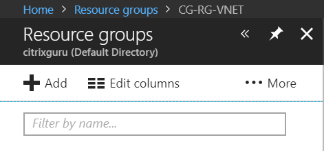 Add new resource group in Azure