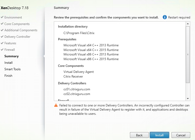Install VDA on Azure Windows 10 VM - Part 6