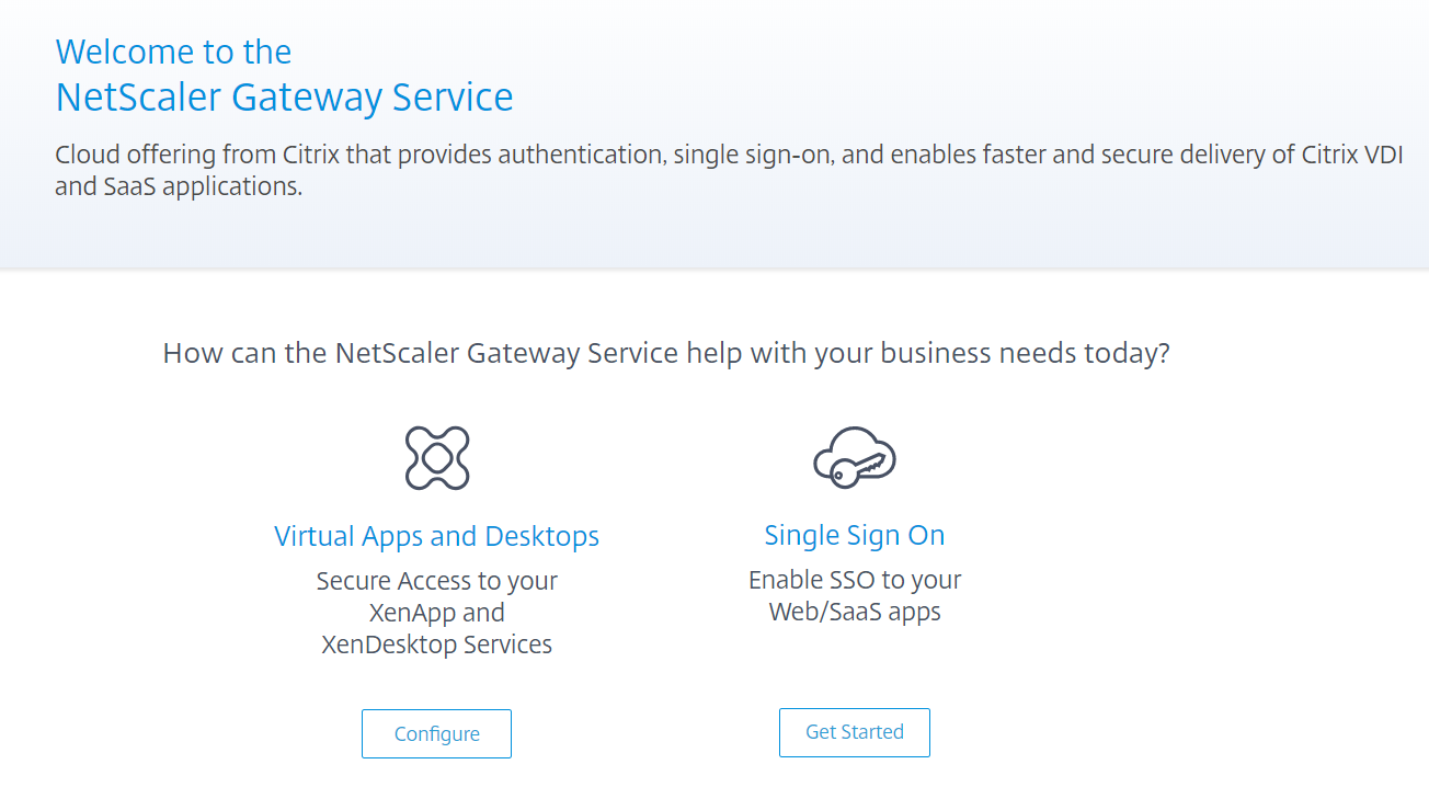 NetScaler Gateway Service in Citrix Cloud