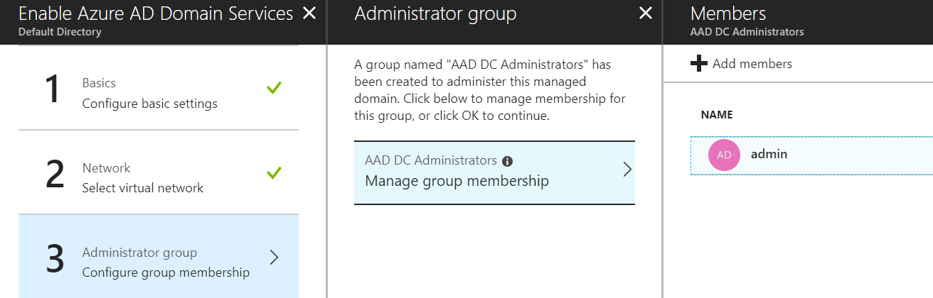 Azure AD DS - Add administrator