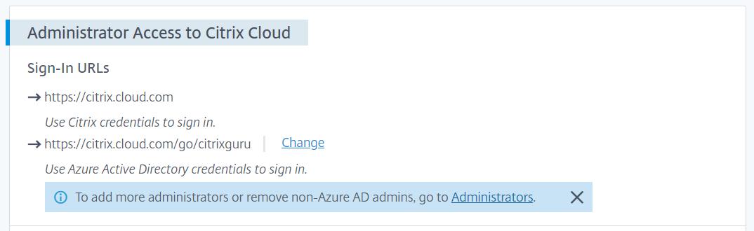 IAM Configuration in Citrix Cloud