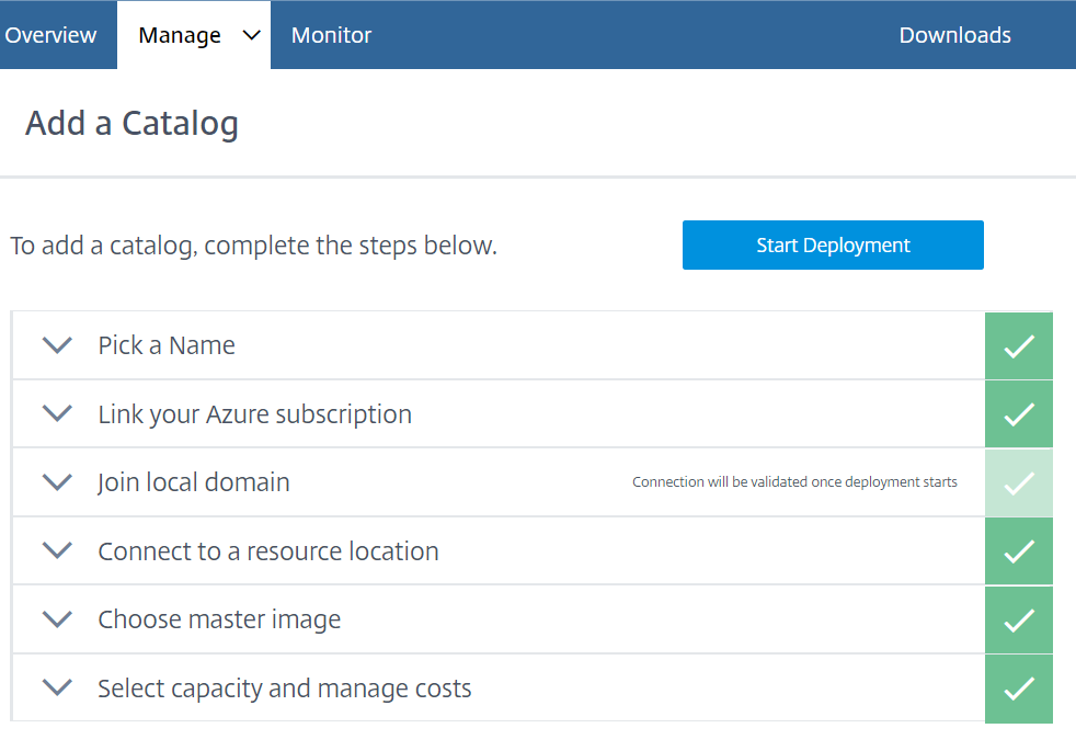 Configure Azure Quick Deploy in Citrix Cloud 13