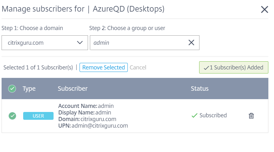 Configure Azure Quick Deploy in Citrix Cloud 27
