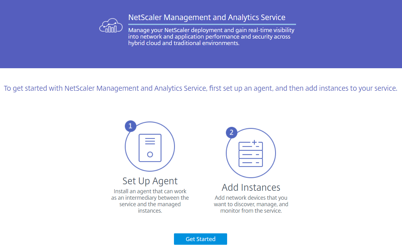 Citrix Management and Analytics Service - Get Started