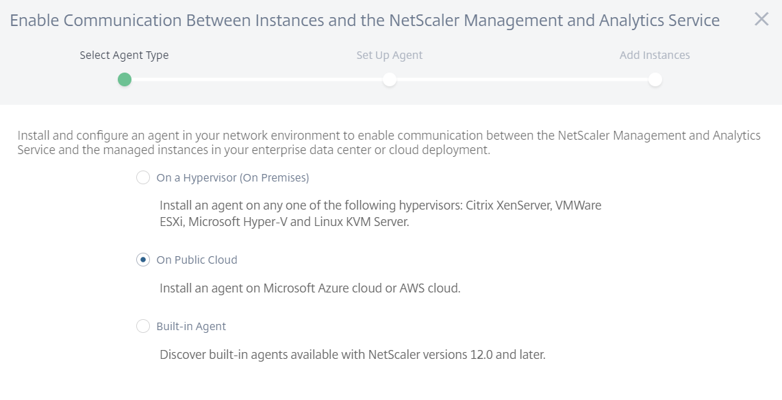 Citrix Management and Analytics Service -  Where to install the agent?