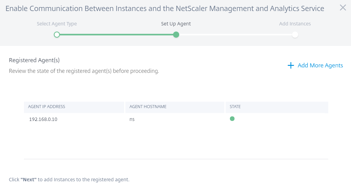 Citrix Management and Analytics Service - Agent is deployed and connected to Citrix Cloud