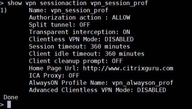 how vpn sessionaction vpn_session_prof