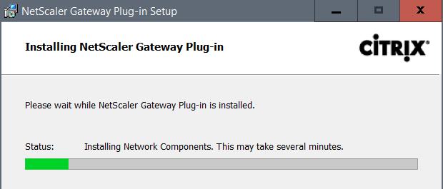 Install NetScaler Gateway Plug-in
