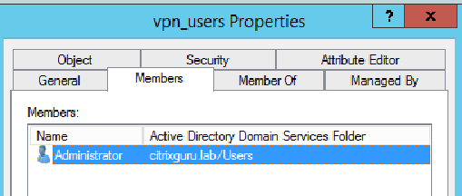 VPN restricted to AD group