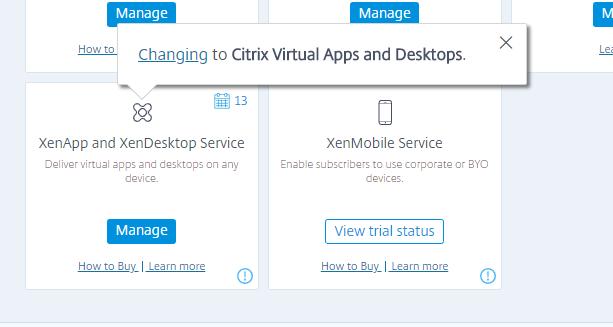 Citrix rebranding popup