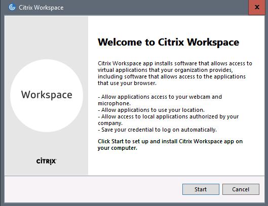 Citrix Workspace app 1808