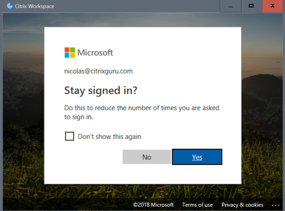 Citrix Workspace - MFA stay signed-in