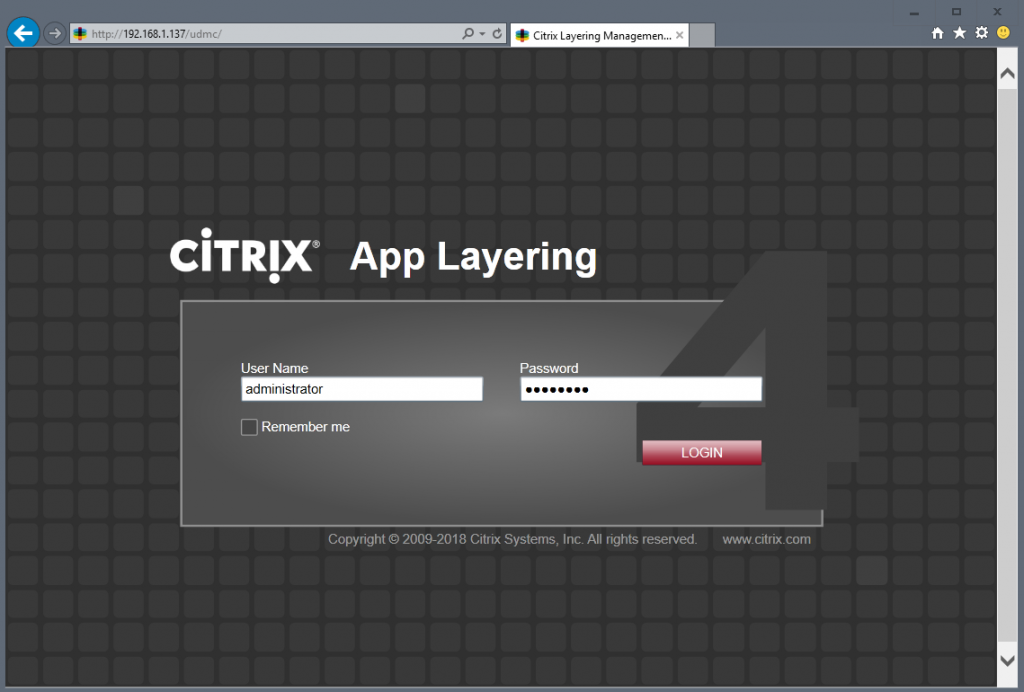 App layering dashboard