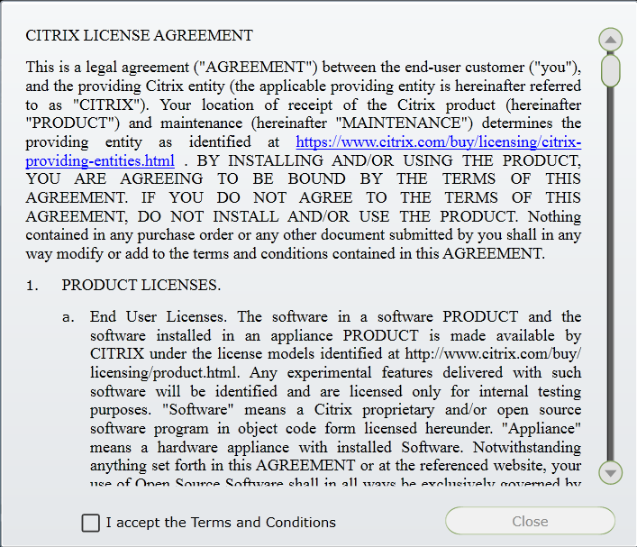 Licensing agreement