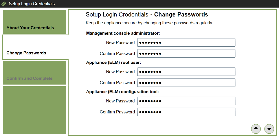 Change default password
