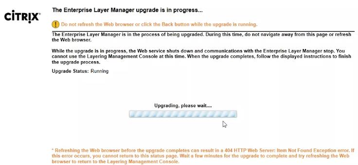 ELM upgrade in progress