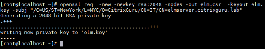 Generate .key and .csr files with OpenSSL