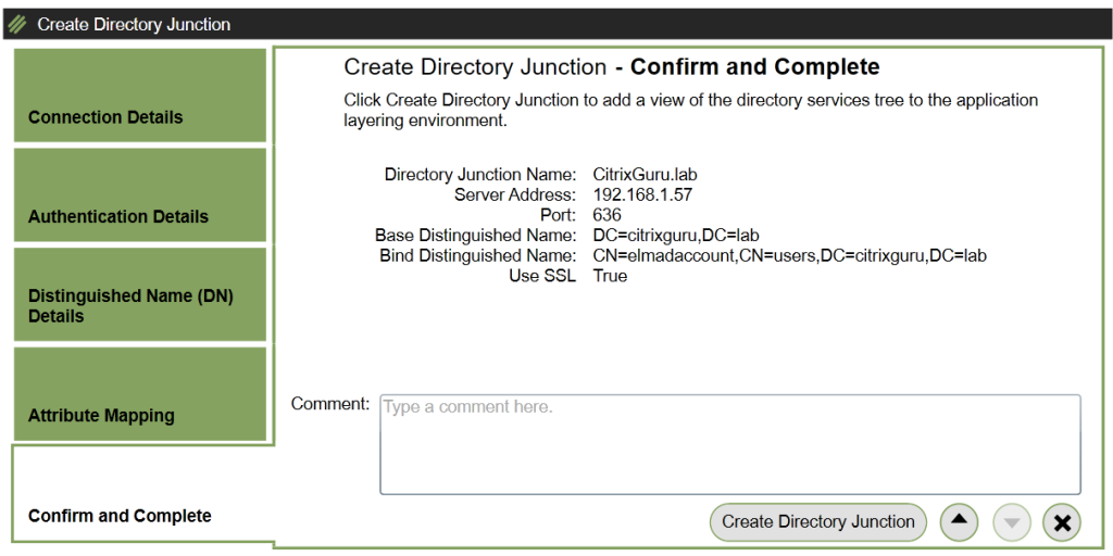ELM - Create Directory Junction - Confirmation