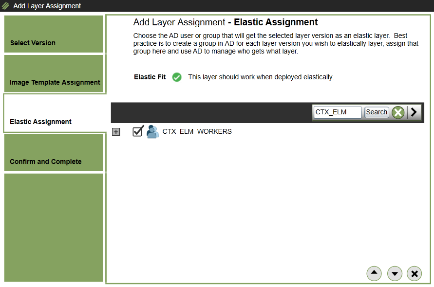 Elastic deployment - Add assignments - Select Elastic assignment