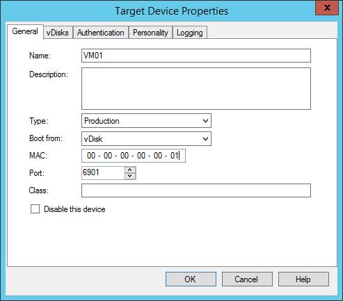 App Layering - PVS - Create Target Device