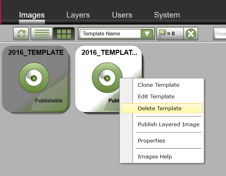App Layering Image Deployment - Delete Template