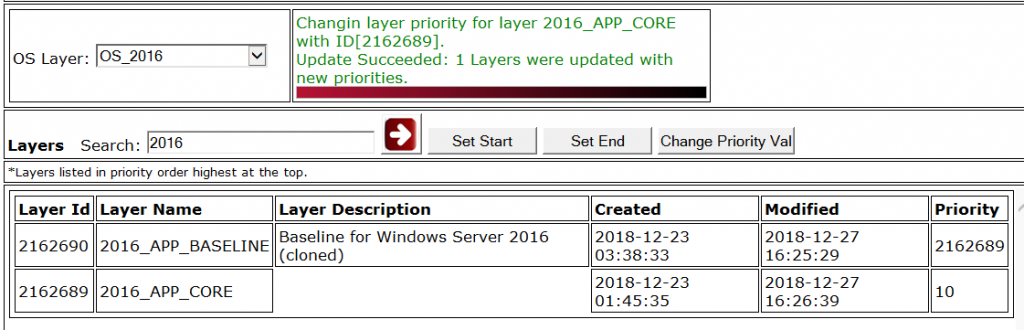 Citrix App Layering Layer Priority Utility - Priority updated