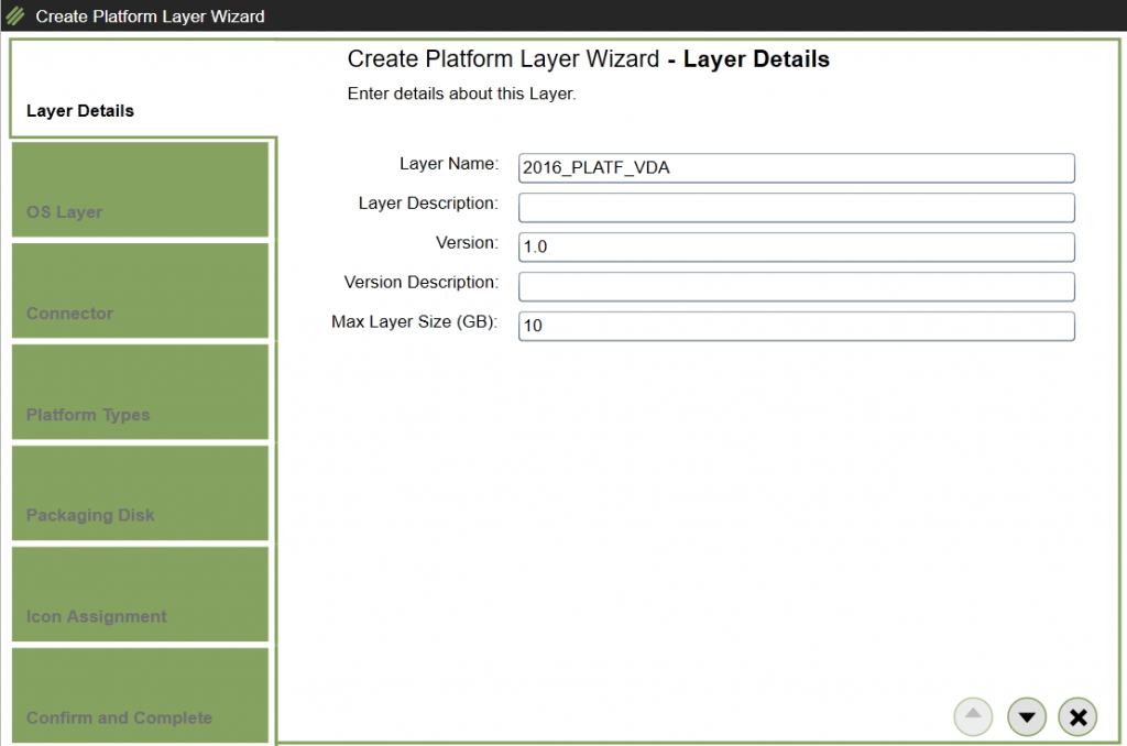 Create Platform Layer - Layer details
