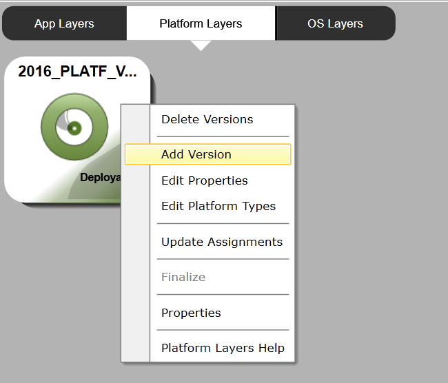 Platform Layer - Add version