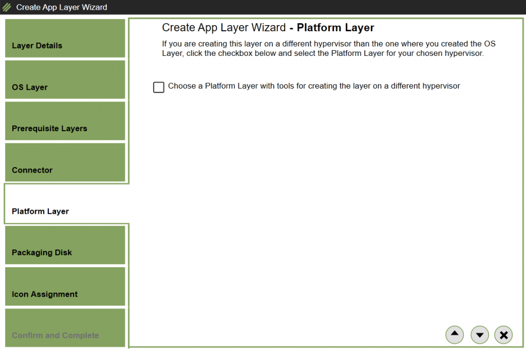 App Layers - Create a new App Layer - Platform layer