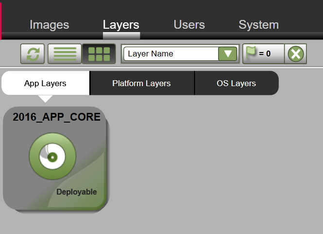 App Layers - Create a new App Layer - Deployable