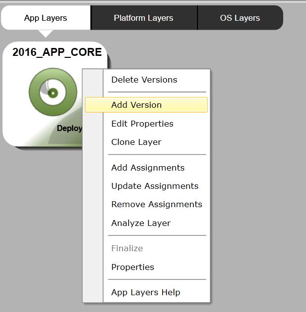 Apps Layer - Add version