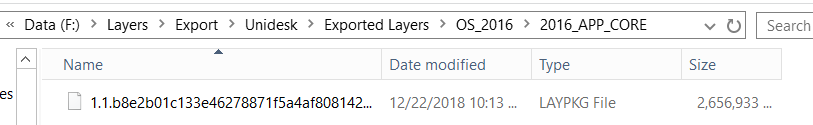 App Layers - Export - Exported