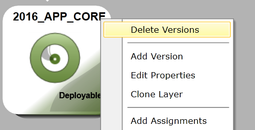 App Layers - Delete version/layer