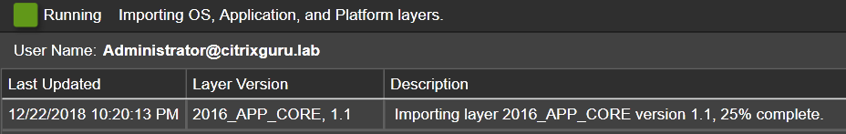 App Layers - Import Layer/Version - Importing