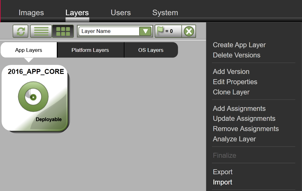 App Layers - Import Layer/Version