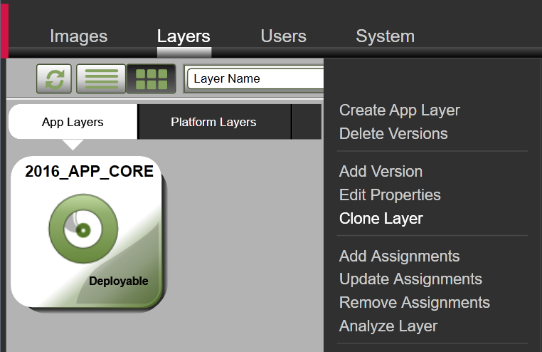 App Layers - Clone layer