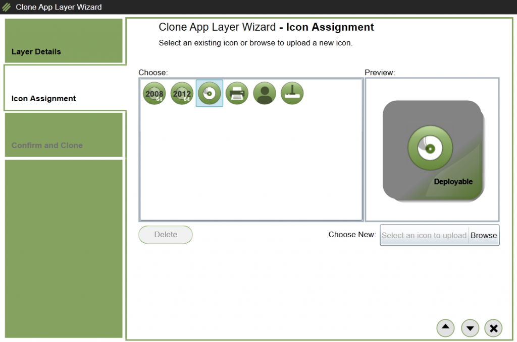 App Layers - Clone layer - Icon assignment