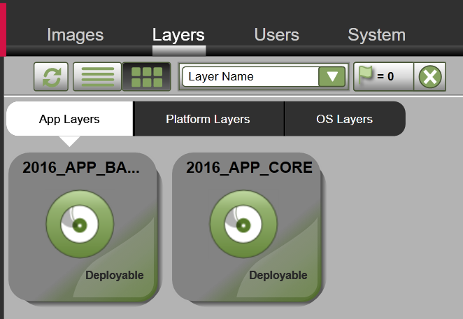 App Layers - Clone layer - Layer cloned