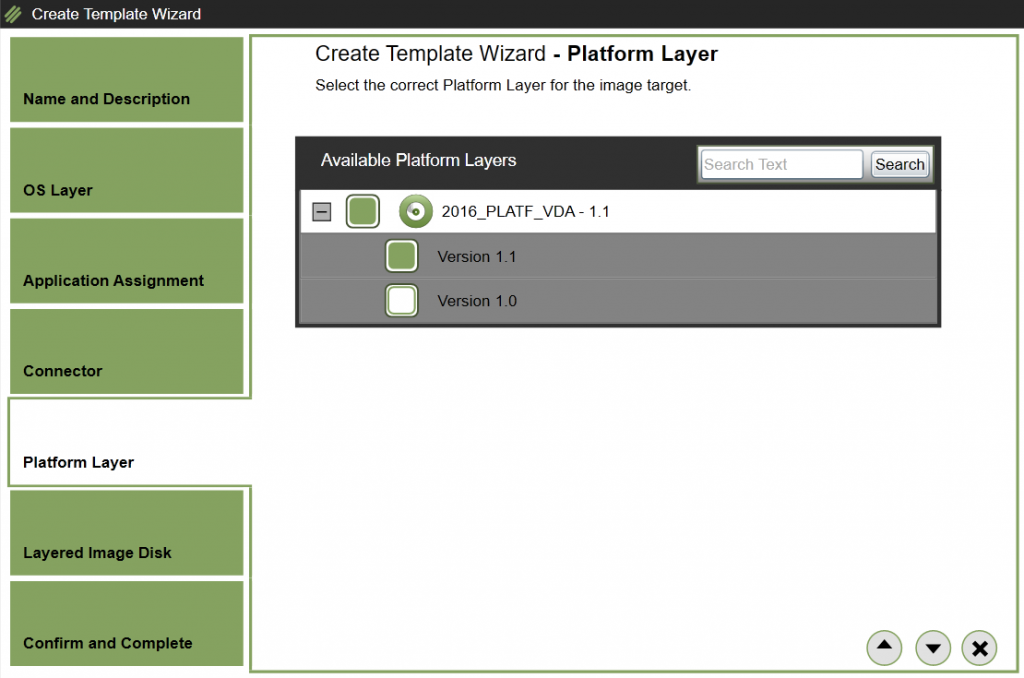 App Layering Image Deployment - Template - Platform Layer
