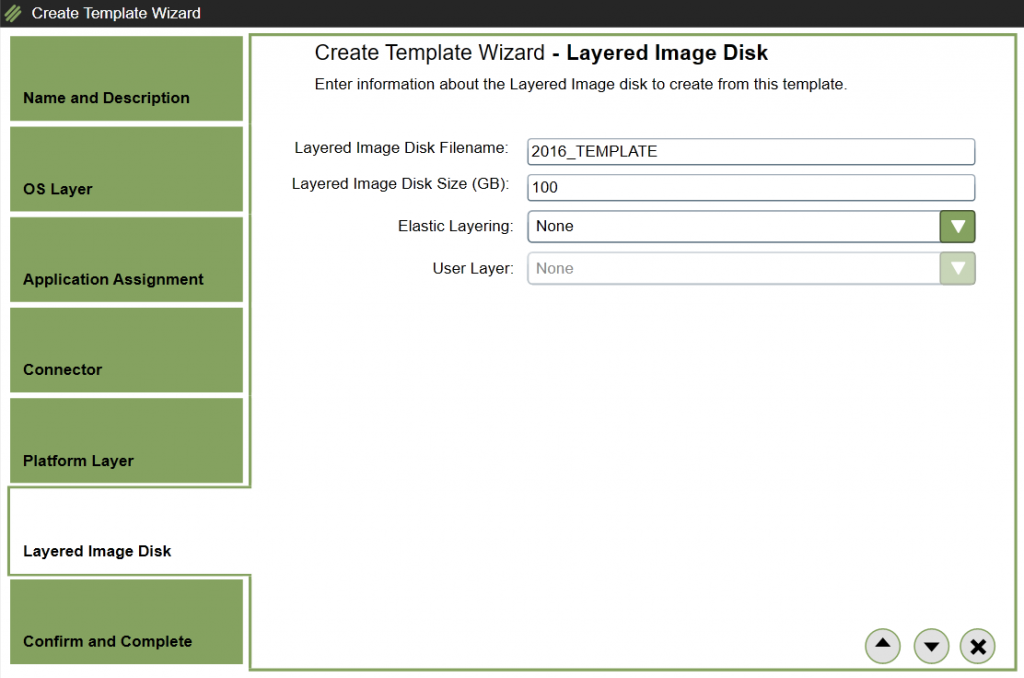 App Layering Image Deployment - Template - Select Layered Image Disk