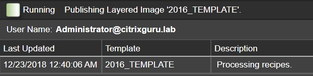 App Layering Image Deployment - Template - Processing Recipes